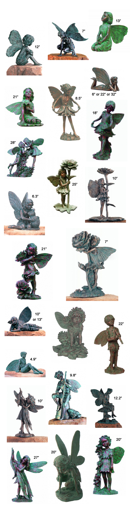 Bronze Patina Fairy Statues