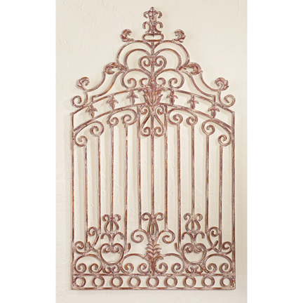 wrought iron garden gate wall decor inside out. Black Bedroom Furniture Sets. Home Design Ideas